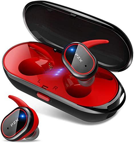 【2019進化版 Bluetooth5.0 HiFi高音質】 Bluetooth イヤホン 自動ペアリング 自動ON OFF IPX6防水 完全ワイヤレス イヤホン 両耳 左右分離型 軽量 マイク付き タッチ式 Siri対応 ノイズキャンセリング&AAC対応 技適認証済 日本語音声提示 ブルートゥース イヤホン iPhone iPad Android対応 PZX