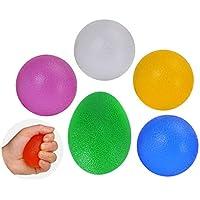 シリコングリップボール、グリップフィンガーマッサージボールリハビリテーション手首ストロークリカバリートレーニング弾力性のあるボールラウンド透明な白 (色 : Round transparent white)