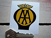 AA Old Style Car Sticker ステッカー シール デカール 175mm x 200mm [並行輸入品]