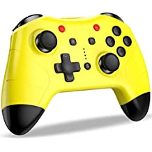 【最新】Switch コントローラー BEBONCOOL スイッチ コントローラー プロコン Bluetooth 接続 無線 ワイヤレス 連射 ジャイロセンサー 4段階振動調整 [メーカー3年保] デュアルショック 600mAhバッテリー 任天堂 ゲームパッド Nintendo Switch対応 小型 黄色