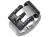 KEN BLOOD x men's Spider ケンブラッド 一条誠モデル ベルト デザイン シルバー リング シルバーxブラック 指輪 15~27号 KS-08SVBK-24