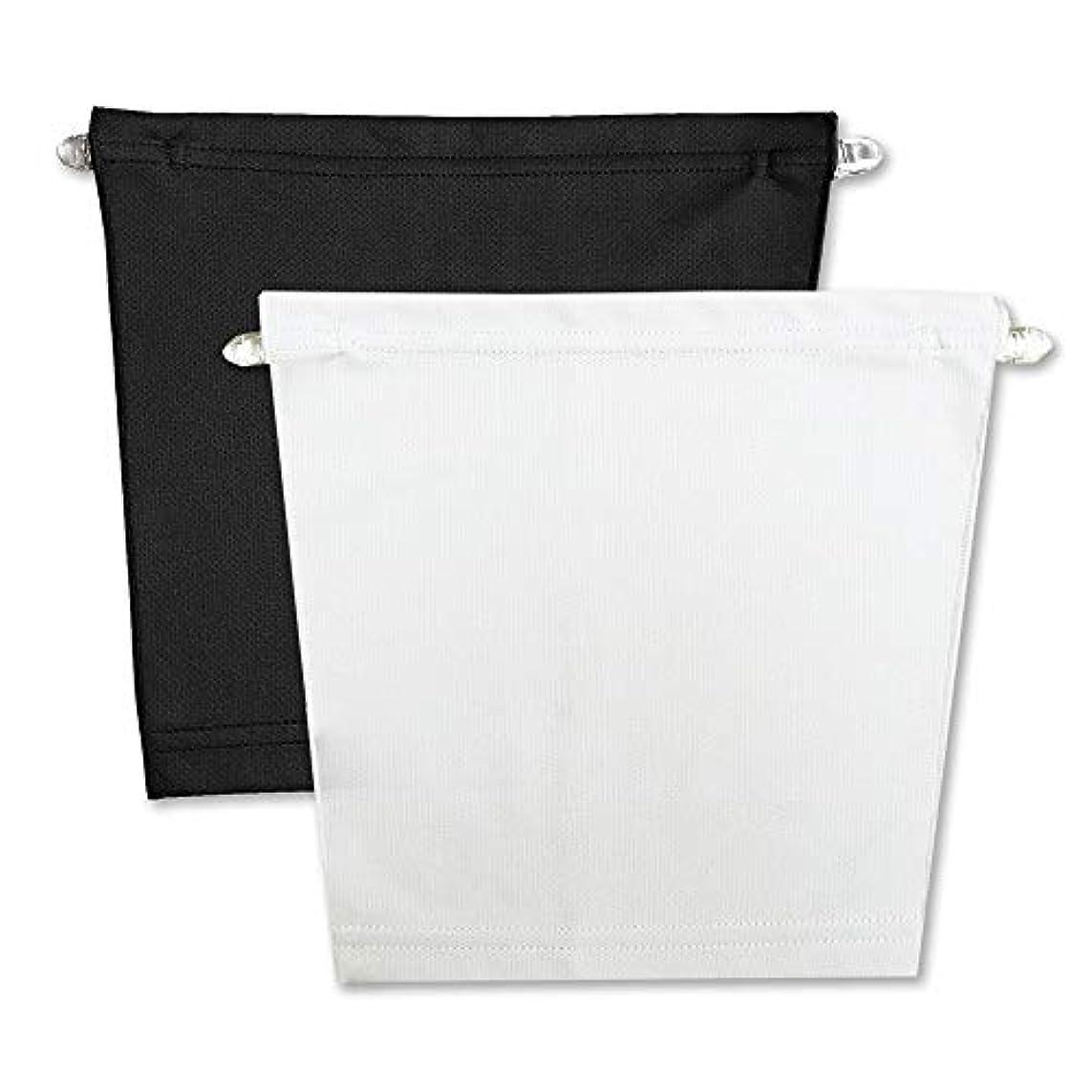 持っている竜巻検索フロントキャミ (2枚組) 胸元隠し UVカット (黒 & 白)