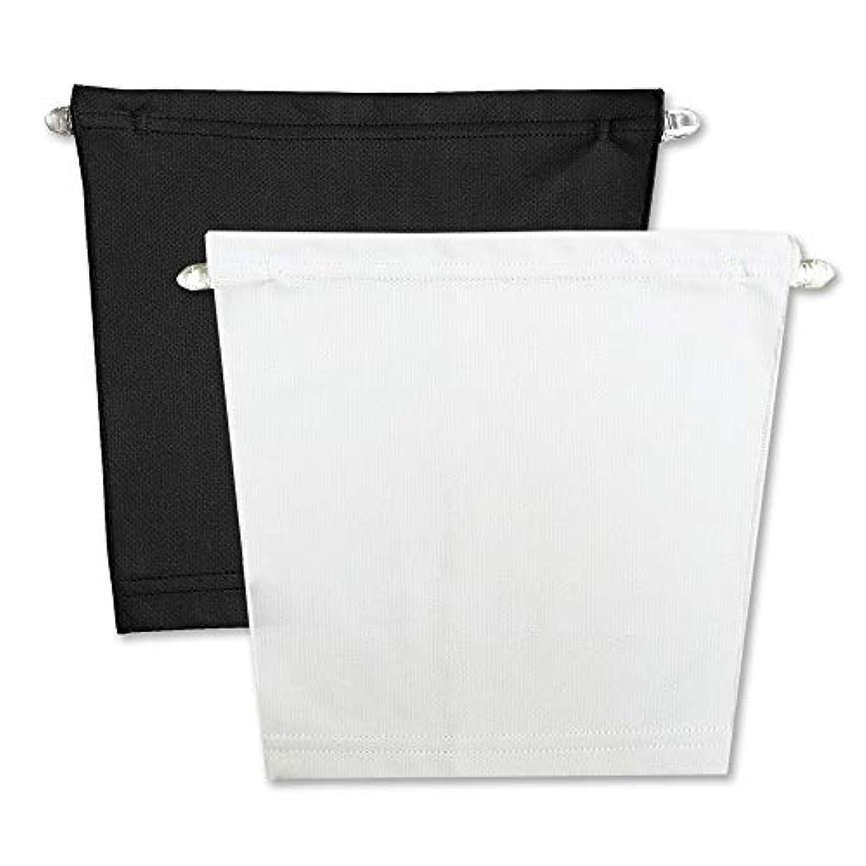 従う心のこもったそれによってフロントキャミ (2枚組) 胸元隠し UVカット (黒 & 白)