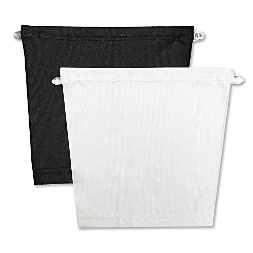 手のひら混沌他の日フロントキャミ (2枚組) 胸元隠し UVカット (黒 & 白)
