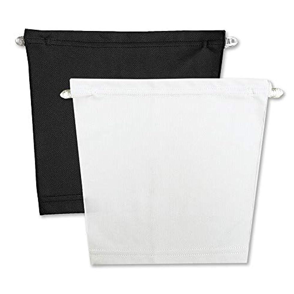 圧縮する背の高い探検フロントキャミ (2枚組) 胸元隠し UVカット (黒 & 白)
