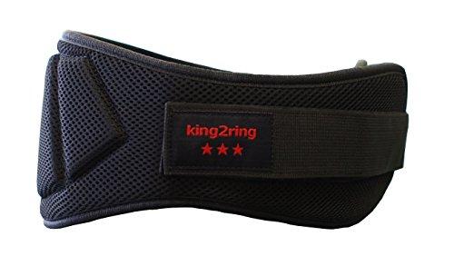 king2ring 筋トレ リフティングベルト パワーベルト ウエイトトリフティング ベルト SML 3サイズ pk765-2 (ブラック, M)