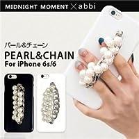 midnight moment×abbi iPhone6s/6 パール&チェーン ブラック ds-1822863