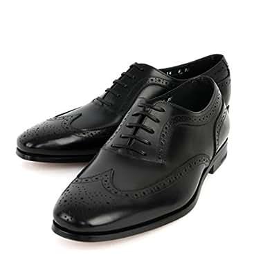 (フェラガモ) FERRAGAMO PISA ウイングチップシューズ/革靴_NERO HJ160516 PISA 0585403 (US12.0(約31.0cm)) [並行輸入品]
