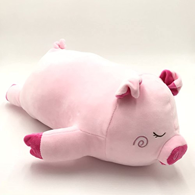 ソフトピンクPig Stuffed Animal枕、21.5インチ長、超快適バレンタインギフト