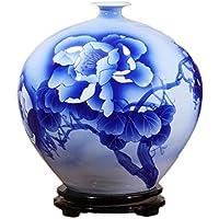 花器 セラミック花瓶古典的な現代手描きの花の磁器のボトルの装飾クリエイティブ工芸品 UOMUN