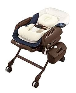 コンビ ベビーラック ネムリラ AUTO SWING BEDi Plus Classic シフォンネイビー 新生児~4才頃対象 エアファイバー搭載モデル