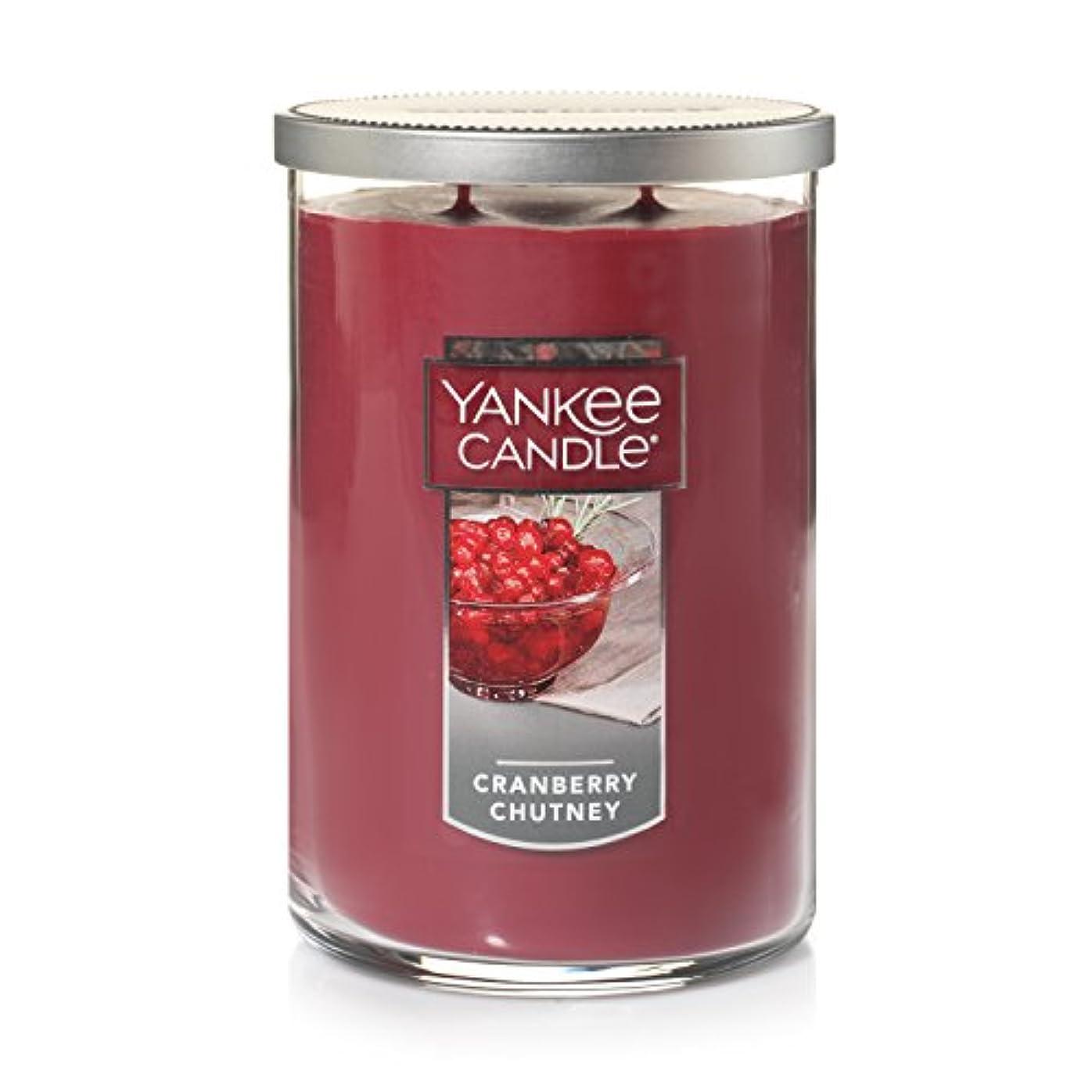空白キャプテンブライオーバードローYankee CandleクランベリーChutney、フルーツ香り Large 2-Wick Tumbler Candle オレンジ 1123208