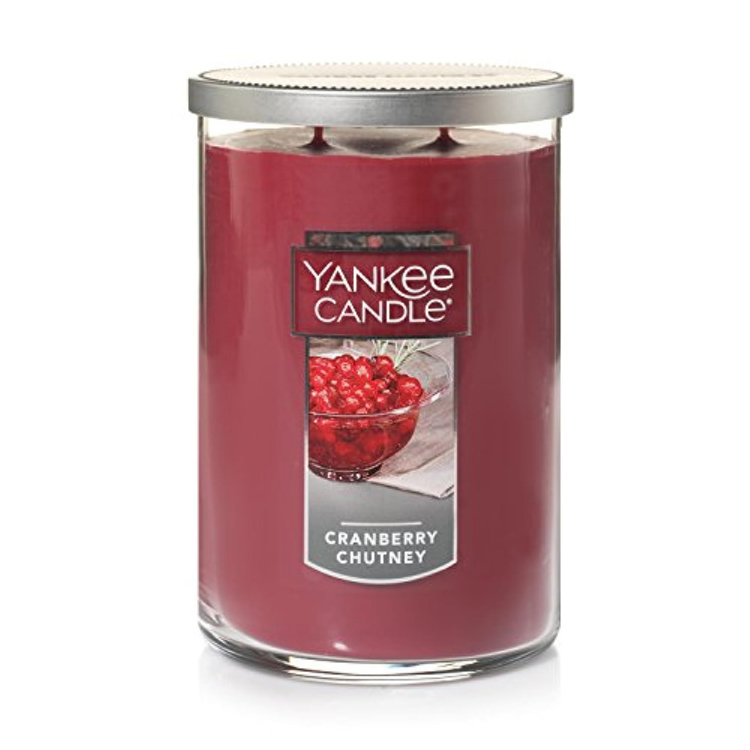 暖かさ海外で愛人Yankee CandleクランベリーChutney、フルーツ香り Large 2-Wick Tumbler Candle オレンジ 1123208