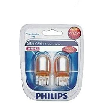 PHILIPS [ フィリップス ] フロント・リア用ウィンカーバルブ [ シルバーヴィジョン ] 12V21W WY21W(T20ウェッジ) [ 品番 ] 12071SVB2