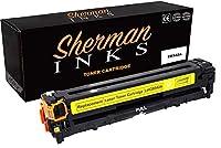 シャーマン イエロー 互換トナーカートリッジ 交換用 プリンターモデル HP 125A カラーレーザージェット CM1312 MFP カラーレーザージェット CM1312nfi カラーレーザージェット CP1215 カラーレーザージェット CP1515n レーザージェット CP1518ni