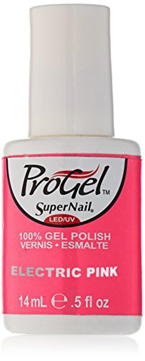溶ける櫛重大SuperNail ProGel Gel Polish - Electric Pink - 0.5oz/14ml