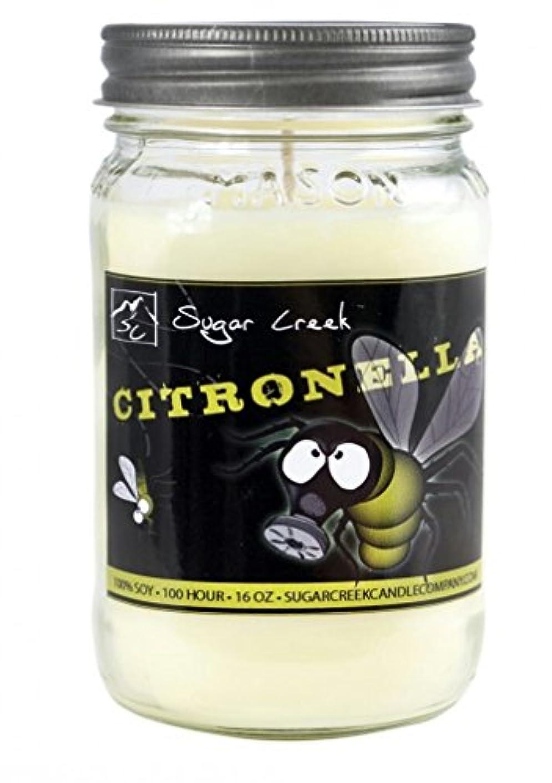 空洞リダクタードリルシトロネラ( Dont Bug Me 。 )香り大豆ワックス16オンスCandle。アロマセラピー大豆キャンドルBurn Cleaner ~ Longer ~非毒性~ 100 % Made in USA。 – Sugar...