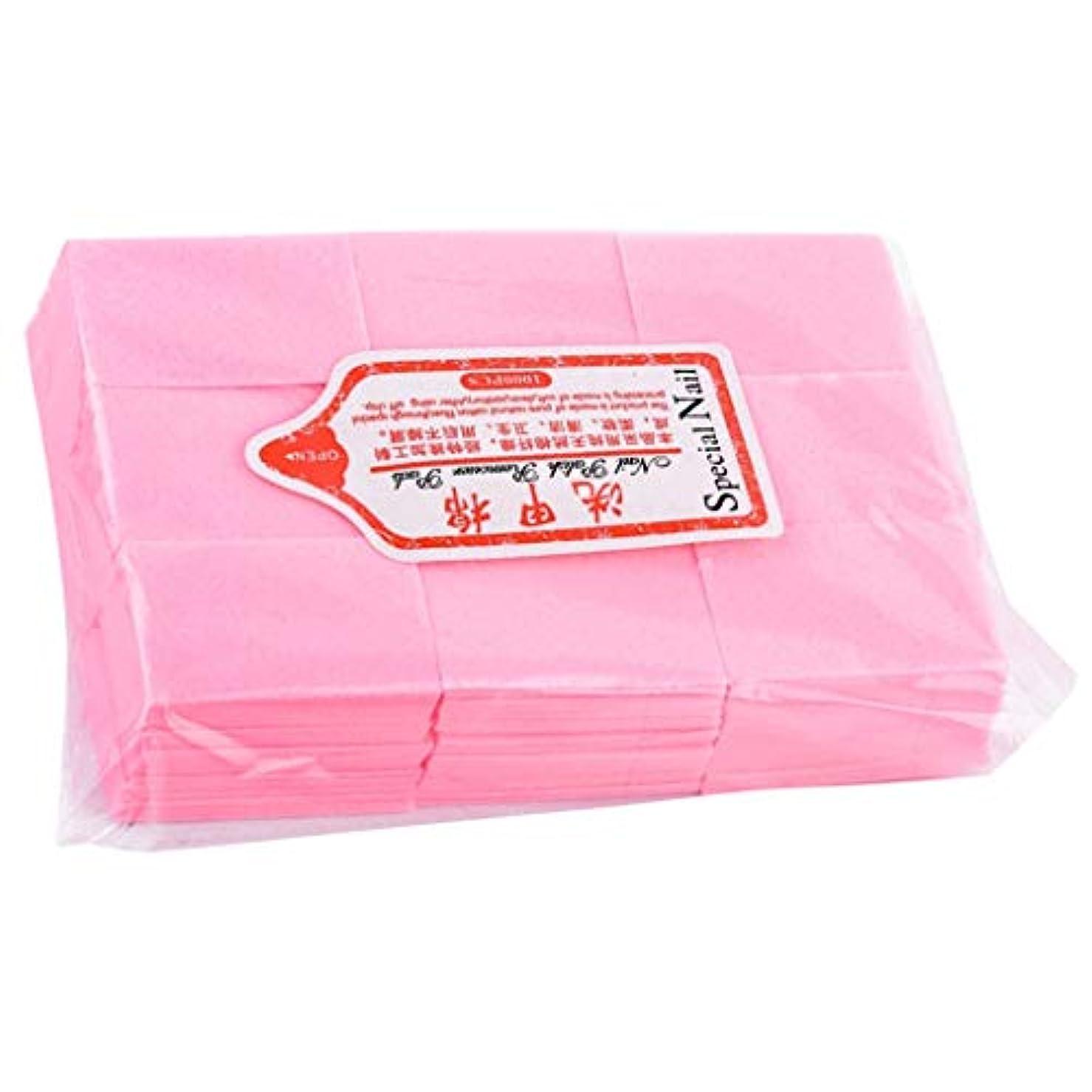 ガジュマル細断優しさネイルワイプ コットンパッド 使い捨て ネイルポリッシュリムーバー パッド マニキュア 全4色 - ピンク