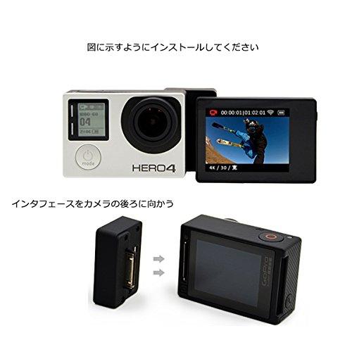 カメラコネクション ディスプレイコンバータボックス マウント アダプター GoPro Hero 4/3+/3 LCD スクリーンディスプレイに対応 プラスチック ブラック - by LC Prime®