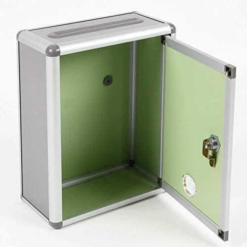 『Aoakua 鍵付きBOX 募金箱 / 応募箱 / 投票箱 / アンケートボックス シルバーグレー W22cm』の8枚目の画像