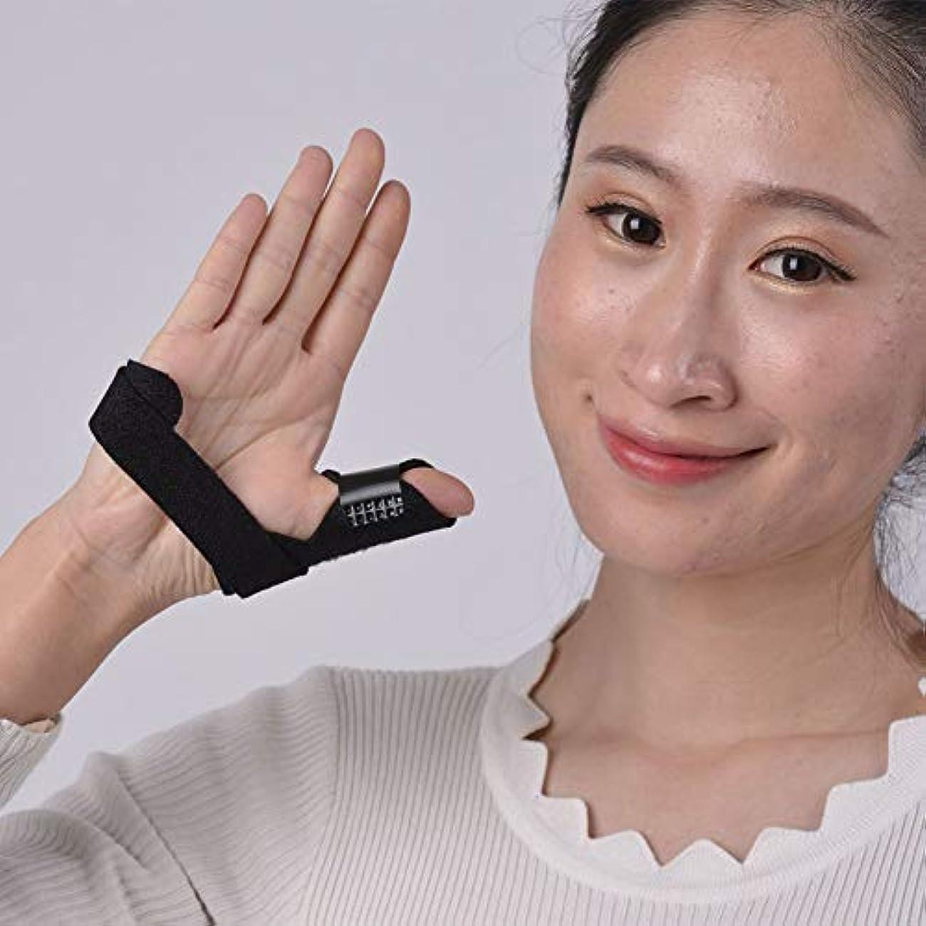 アブストラクトブレス悪党引き金指関節炎靭帯の痛み指骨折創傷術後のケアと痛みを軽減するための指ストレイテナー固定副木