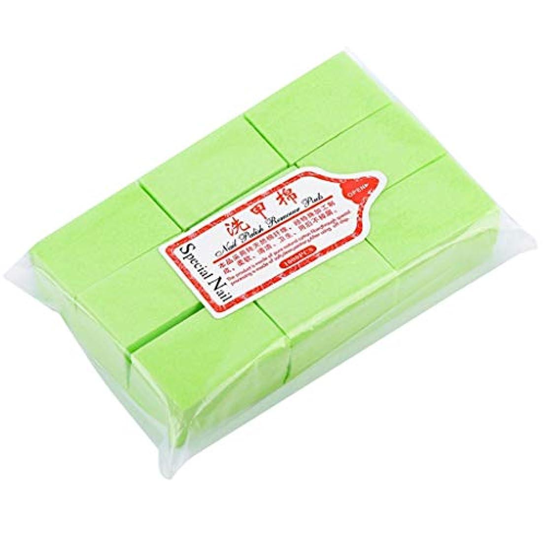 ウォルターカニンガム子供達加入Toygogo ネイルワイプ コットンパッド ネイルアート メイクアップリムーバー 吸湿性 全4色 - グリーン