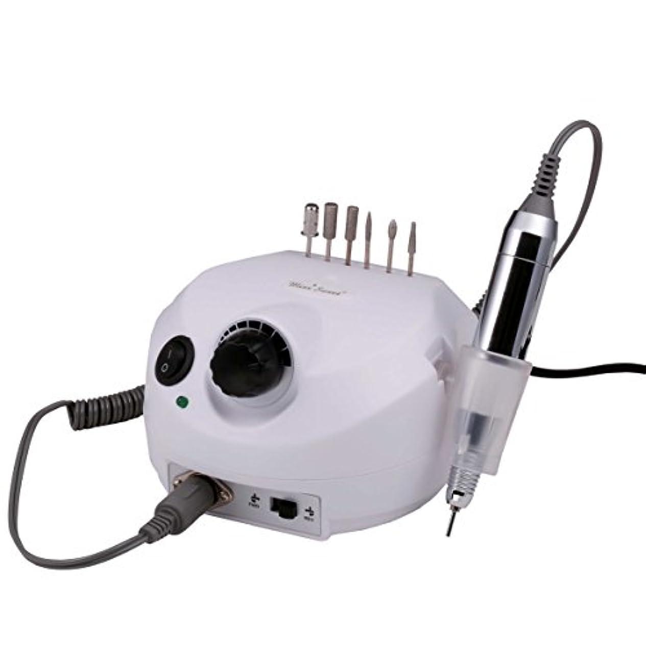 カプセルバッグ不毛のMiss Sweet 電動ネイルマシン ハードジェルネイルのオフにも最適 3万回転/分 (白3)