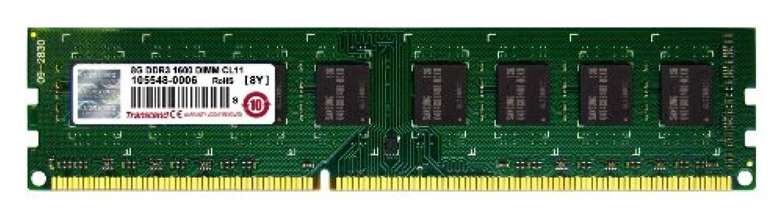 気配りのあるシェアハムTranscend デスクトップPC用メモリ PC3-12800 DDR3 1600 8GB 1.5V 240pin DIMM TS1GLK64V6H