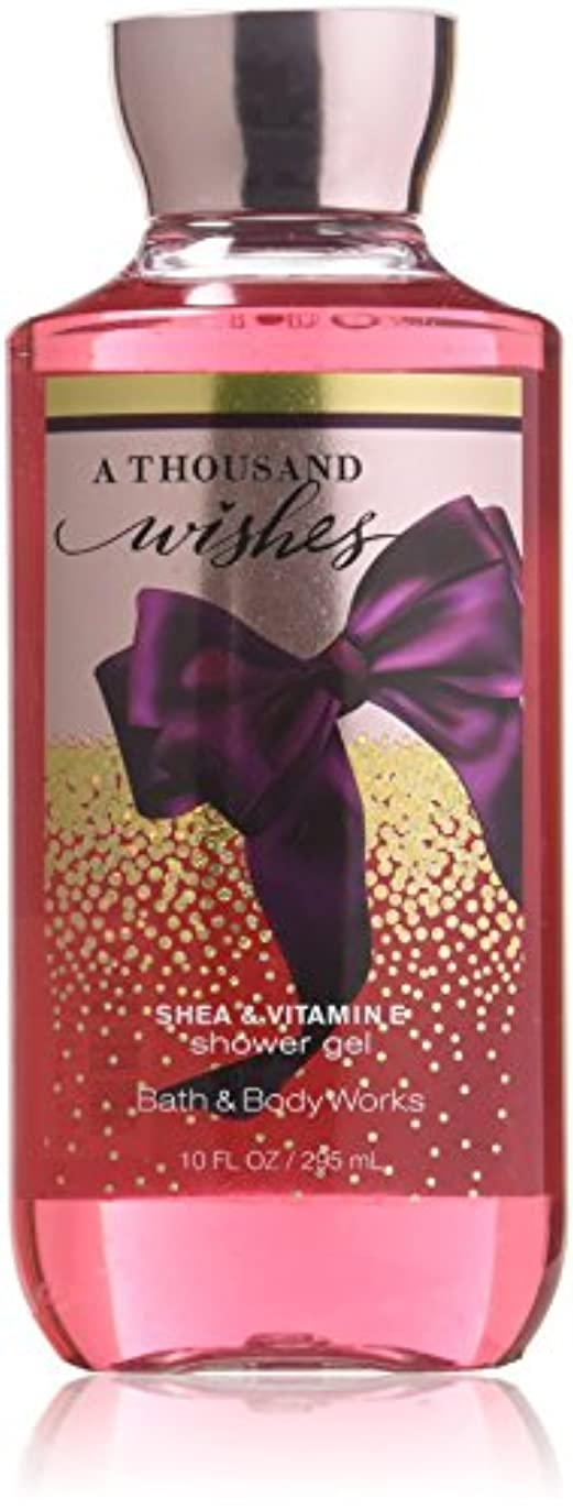 完璧上記の頭と肩順番バス&ボディワークス  サウザンド ウィッシュ シャワージェル A Thousand Wishes Shea & Vitamin-E Shower Gel