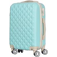スーツケース キャリーバッグ キャリーケース かわいい おしゃれ キルト風 ファスナータイプ 軽量 TSAロック ダブルキャスター Sサイズ/Mサイズ
