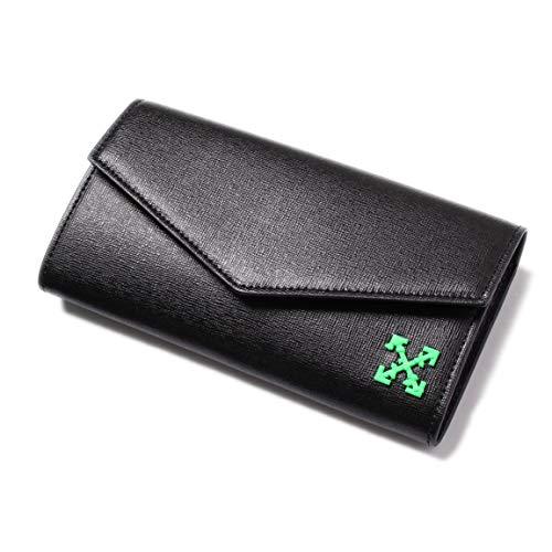 c5c99ee014b8 [OFF-WHITE(オフホワイト)] 長財布 ブラック グリーンアローロゴOWNC011R194230571000