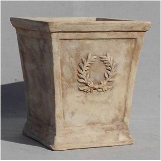 アンティコ:ローレル スクエアー 40cm [テラコッタ鉢] ノーブランド品