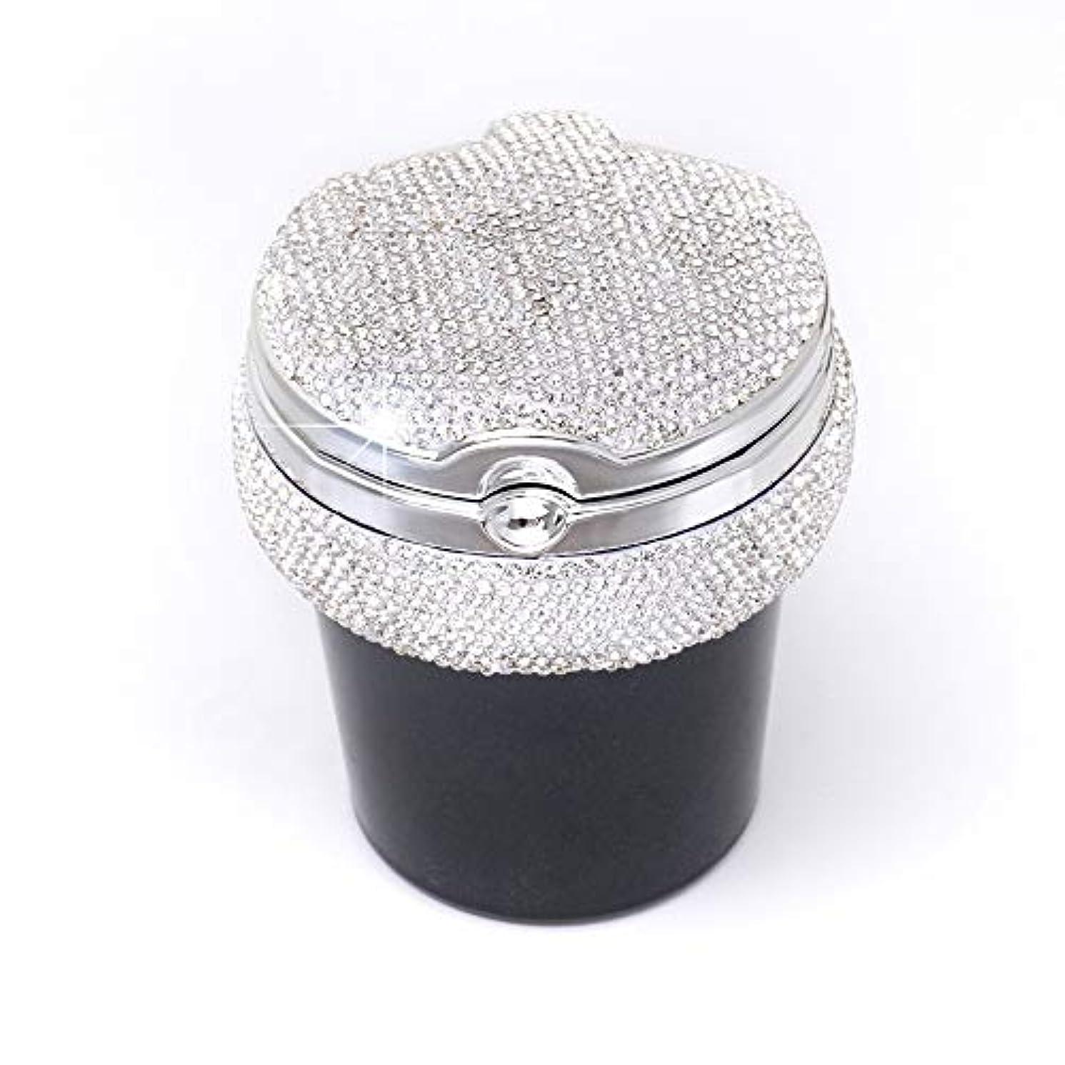 サイレントレパートリーミシンふた付き車の灰皿クリエイティブ屋外灰皿 (色 : 白)