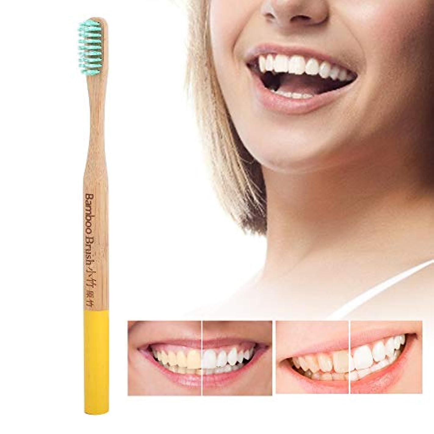 ボーダー認知害虫歯ブラシソフト細毛竹柄歯ブラシ国内タイプ