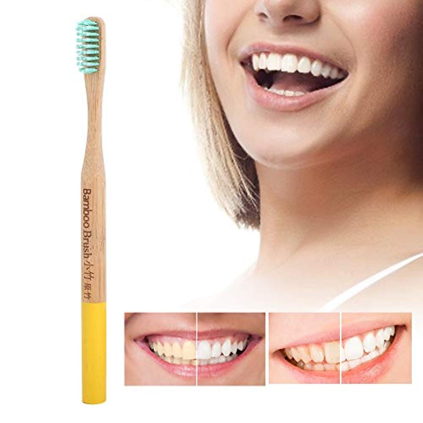 設計端末近似歯ブラシソフト細毛竹柄歯ブラシ国内タイプ