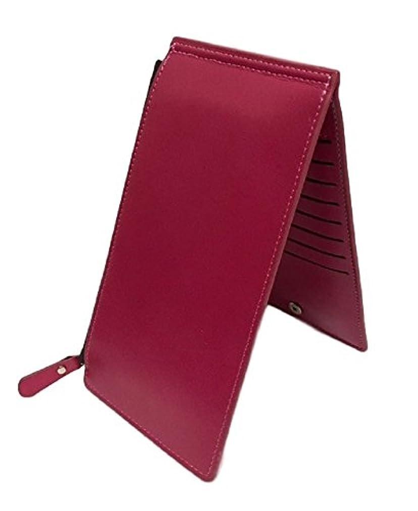 蓮血統スティーブンソンHomarina カードケース 二つ折り 薄型 長財布 レザー 大容量 メンズ レディース 小銭入れ