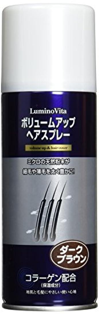 汚れたブレーキ材料LuminoVita(ルミノヴィータ) ボリュームアップスプレー ダークブラウン 200g