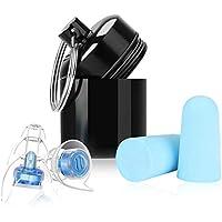 Winzwon 耳栓 防音 安眠 ライブ イヤプラグ 旅行 飛行機 空港 現場作業 勉強 水洗い可 耳保護 視覚保護 携帯ケース付き