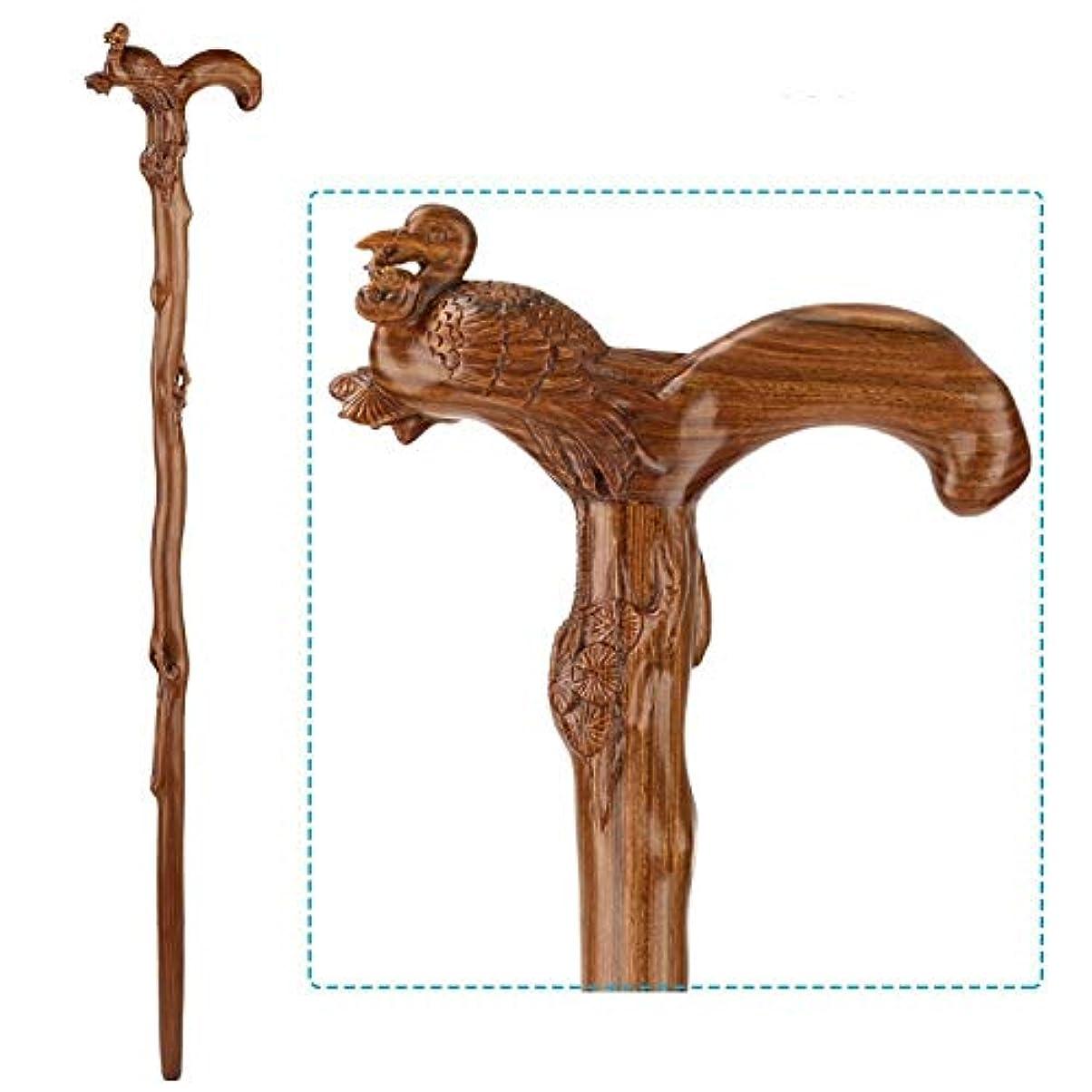 宣教師ぬれた仲良し木彫り杖人間工学に基づいた滑り止めギフト老人支援歩行創造性杖 (Color : J)