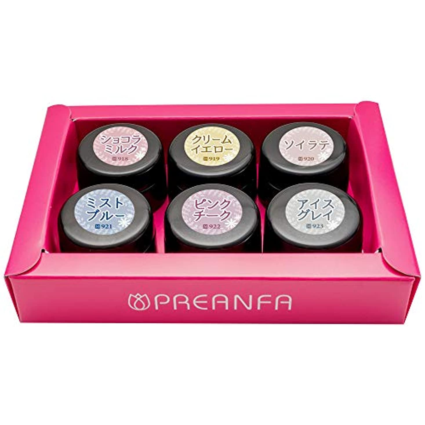 ピンク現象アコーPRE GEL(プリジェル) PRE GEL カラーEX ニュアンスシリーズ6色セット UV/LED対応 ジェルネイル 1