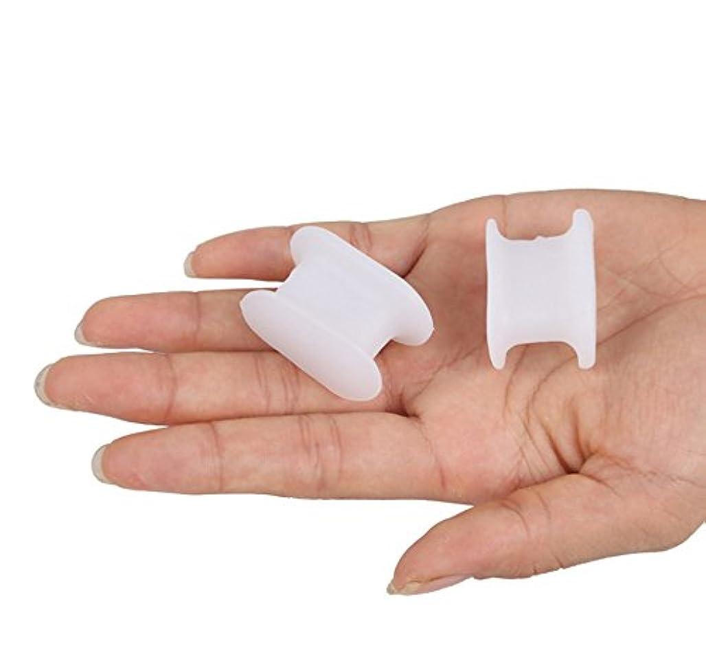航空機中庭適応6ペアつま先セパレーターソフトジェルハンマー爪つま先パッドフットケアけいれん外反母趾ブレース足の痛みリラックス