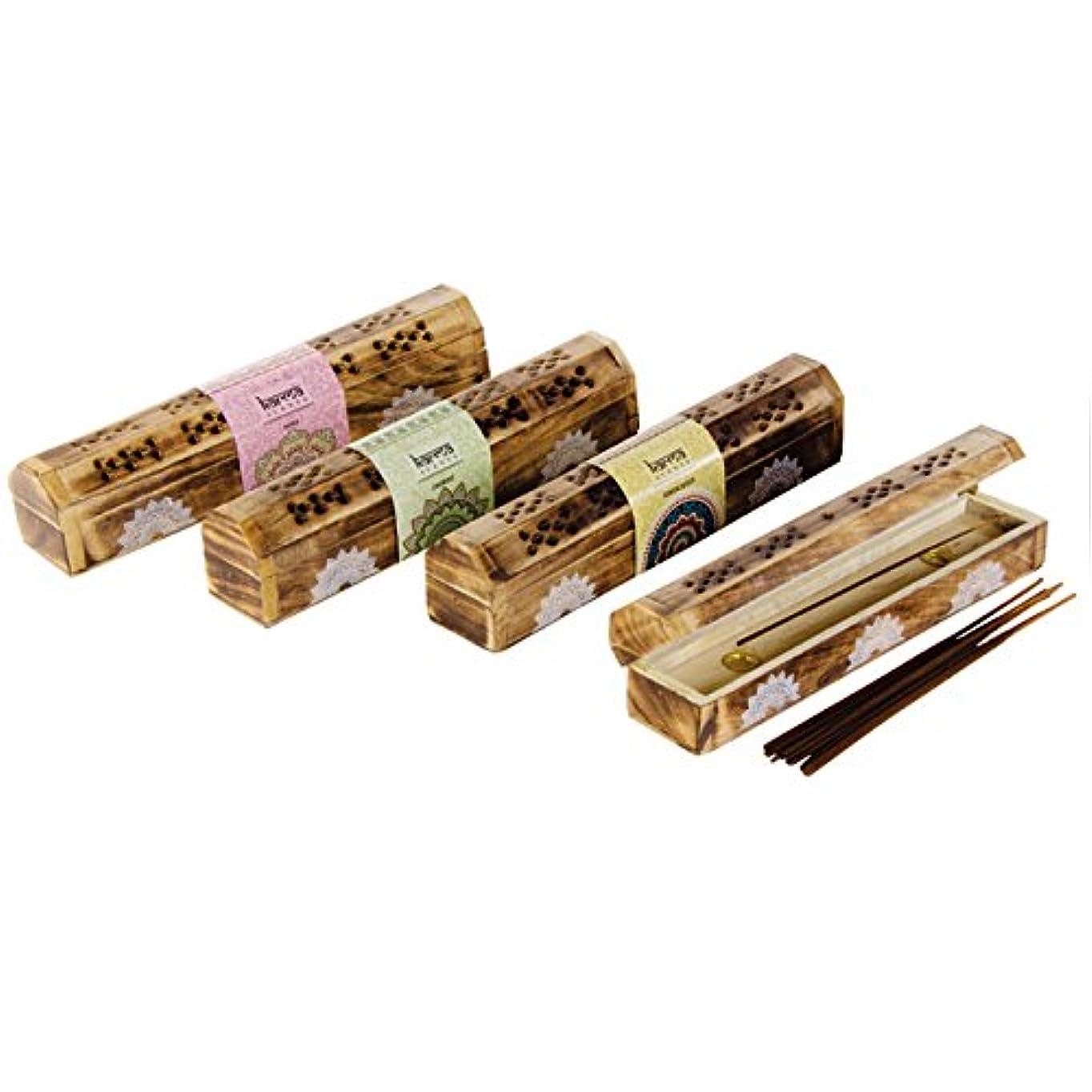 静けさ予防接種確立Karma Incense Boxed Set
