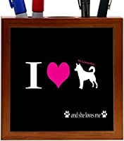 Rikki Knight I Love My Canaan Dog Design 5-Inch Wooden Tile Pen Holder (RK-PH8511) [並行輸入品]