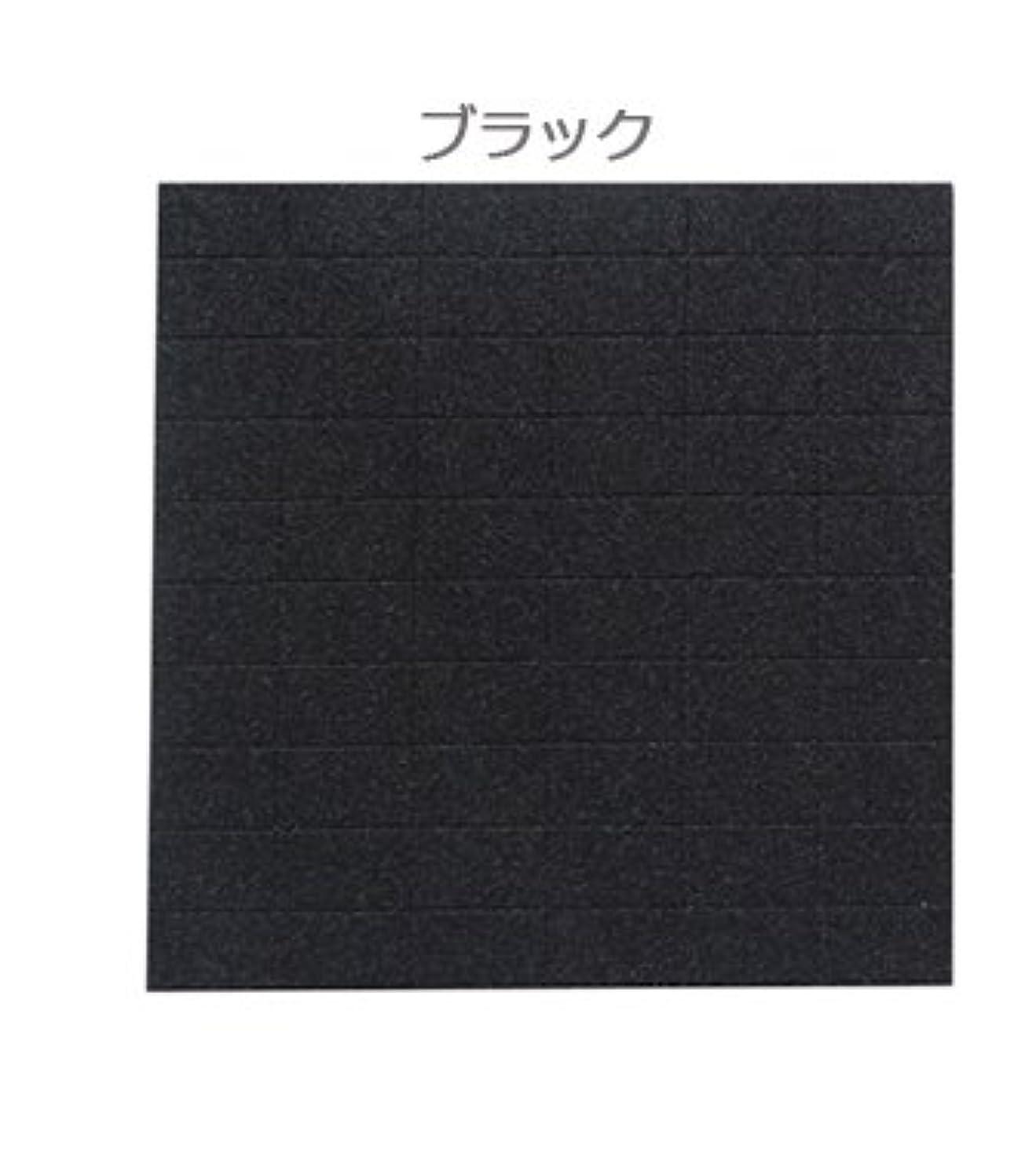 名誉推測もろいネイル用ミニブロック60個/2wayスポンジファイル ☆150G/180G (ブラック)