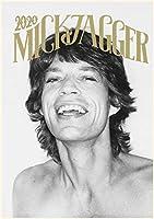 カレンダー 2020 [12 Pages 20x30cm] Mick Jagger Rolling Stones Rock 音楽 Vintage レトロ写真 ポスター 雑誌の表紙