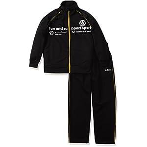 (エーディーワン)A.D.ONE ボーイズ上下セット ジャージセットアップ ジュニア スポーツウェア ジャケット パンツ ADJ-700 ブラック 130cm