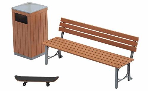ハセガワ 1/12 フィギュアアクセサリーシリーズ 公園のベンチとゴミ箱 プラモデル FA10