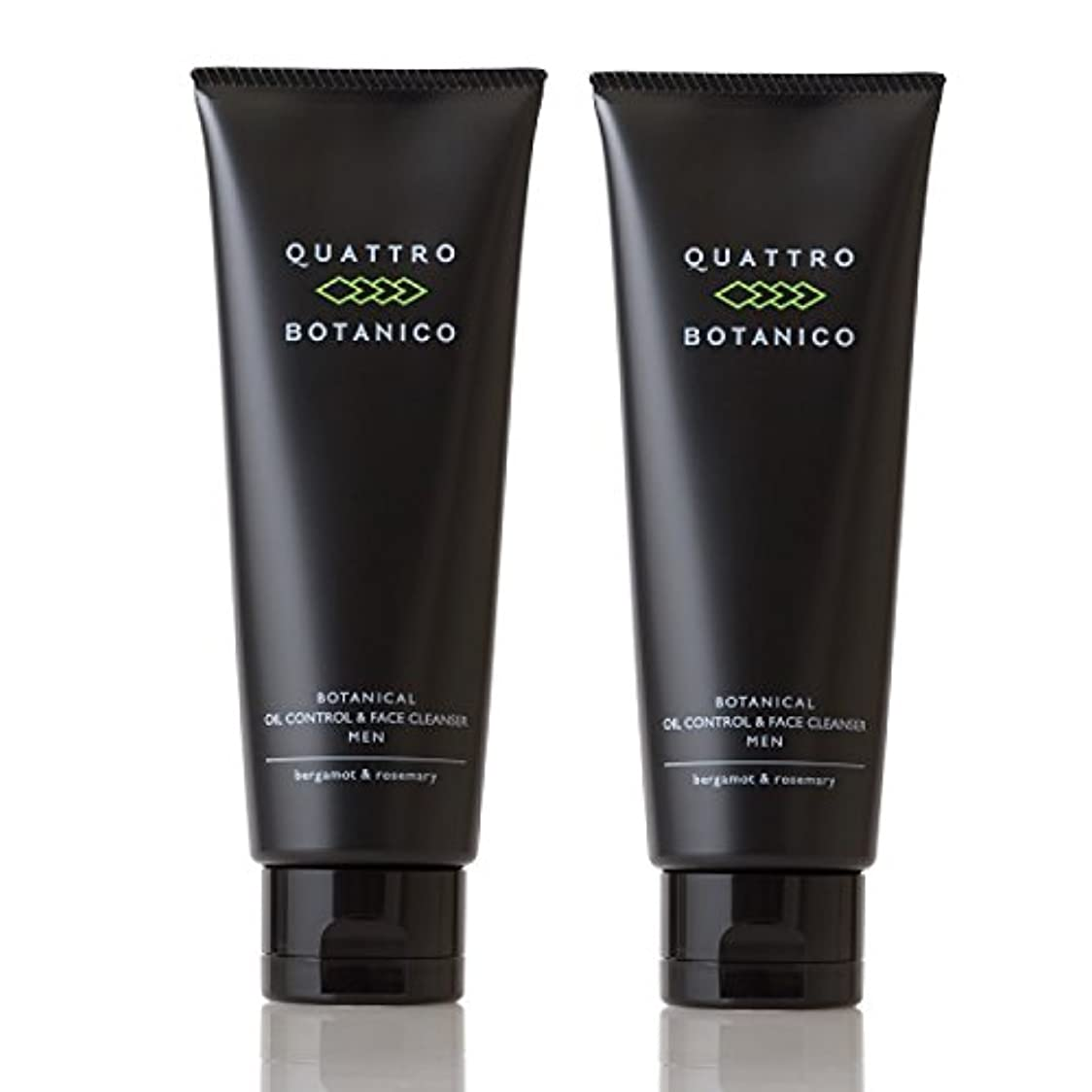 かもしれない架空の拡声器クワトロボタニコ (QUATTRO BOTANICO) 【 メンズ 洗顔 】 ボタニカル オイルコントロール & フェイスクレンザー (男性 スキンケア) 《お得な2本セット》 120g × 2本