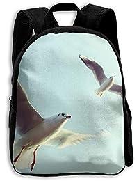 キッズ バックパック 子供用 リュックサック 飛ぶカモメ ショルダー デイパック アウトドア 男の子 女の子 通学 旅行 遠足