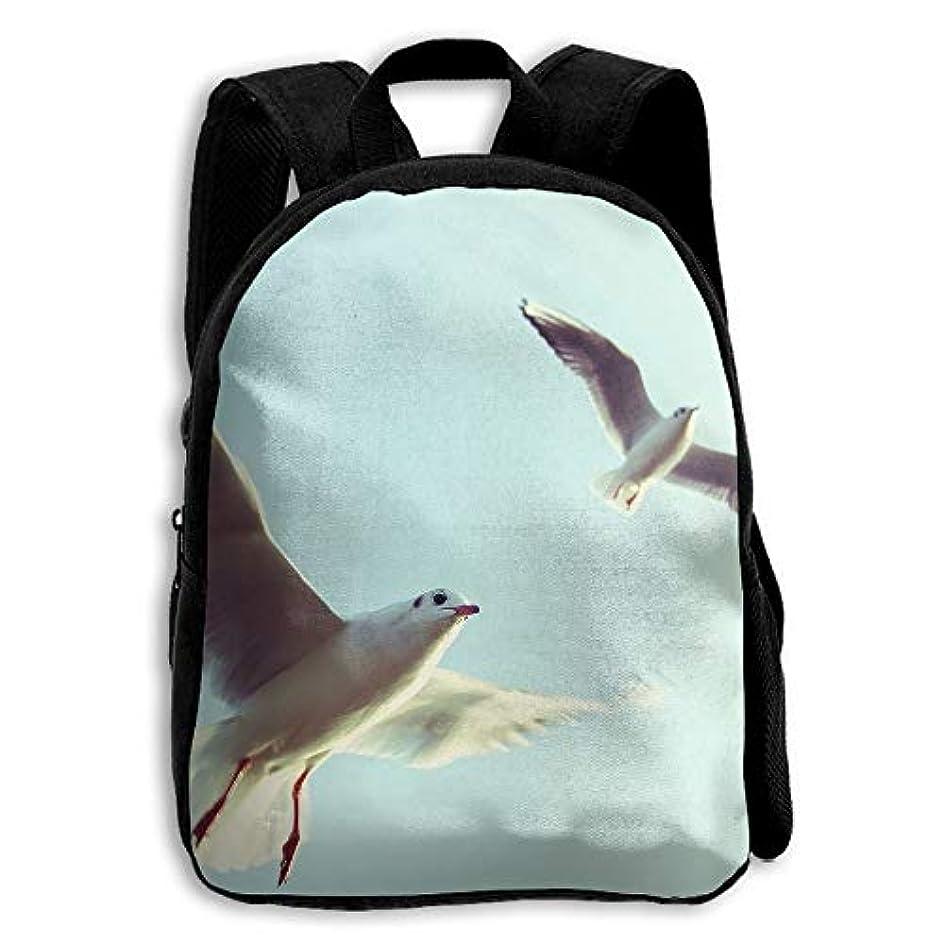 泳ぐ望みパン屋キッズ バックパック 子供用 リュックサック 飛ぶカモメ ショルダー デイパック アウトドア 男の子 女の子 通学 旅行 遠足